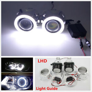 "2.5"" Halo Ring Angel Eye LHD/RHD Bi-Xenon HID Projector Headlight Conversion Kit"