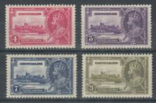 NEW FOUNDLAND CANADA 1935 KGV SILVER JUBILEE MINT SET (x4) (ID: 275/D59835)