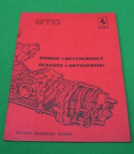 Ferrari 288GTO Gearbox & Differential - VERY RARE Tech Manual 1985, Ita/Eng Text