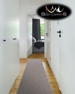 THICK CHEAP RUNNER HALLWAY PLAIN beige 91 CORRIDOR width 50-150 cm RUGS Carpets