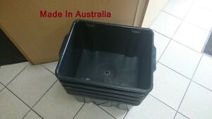 4x Black Plastic Storage Containers ,Crate Bins Boxes, Racking Shelf