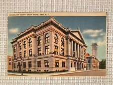 TROY NEW YORK 1930s Postcard Rensselaer County Court House