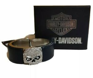 Harley-Davidson bracelet bangle Crystal Willie g skull