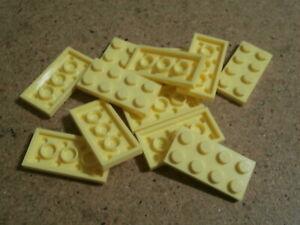 Lego 12 x bright light yellow plate 2 x 4   NEW