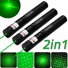 3pc 500Miles 532nm 2in1 Green Laser Pointer Lazer Pen Adjustable Focus Laser Set