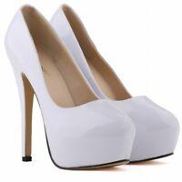Ladies Women's Platform Heels Stiletto Wedding High Heel Toe Pumps Bridal Shoes