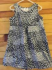 Hanna Andersson Girls Black/Gray/White Floral Print TWINS!! Size 110 5-6