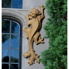 Medieval European Gothic Gargoyle Cat Climber Sculpture Halloween Prop