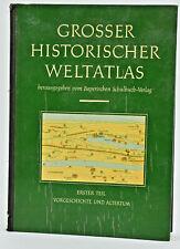 Bayerischen Schulbuch GROSSER HISTORISCHER WELTATLAS Vintage Book 1953
