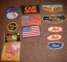 Assorted Patch Patches Lot of 11, Used & Unused