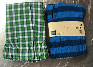 NWT GAP men's Size M 32-34 Lots Of 2 Open Fly Boxer Shorts Briefs Underwear