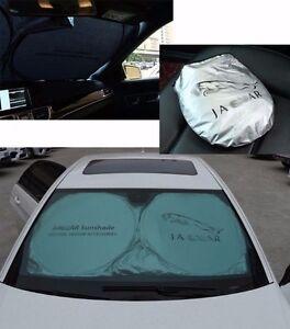 Foldable Front Rear Car Window Sun Shade Shield UV Block For Jaguar