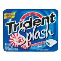 Trident Splash Sugar Free Gum Peppermint Swirl 10 pack (9 ct per pack) (2 pack)