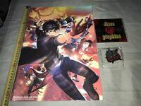 PERSONA 5 Dancing FAMITSU DX Limited Poster Book Keychain Jp Jap JAPAN PS4 VITA
