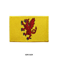 SOMERSET County Flag Embroidered Patch Iron on Sew On Badge For Clothes Etc