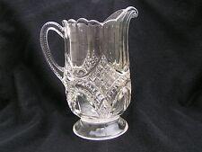 Dalton Milk Pitcher Tarentum Glass EAPG