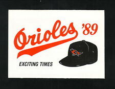 Baltimore Orioles--1989 Pocket Schedule--Giant