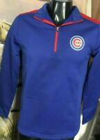 NWT- Brand New CHICAGO CUBS 1/4 Zip Pullover Fleece Jacket. MLB Mens Medium