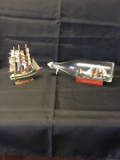 Vintage ship in a bottle Plus Model Ship Pre Owned