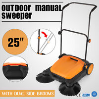 s650 outdoor push sweeper | karcher floor orange/black bare cleaning handle care
