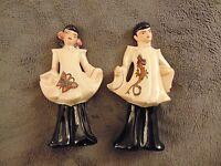 Florence Ceramic Asian Oriental Vintage Boy & Girl Figurines,Set of 2 Figurines