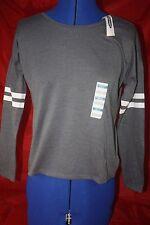 Old Navy Dark Gray 10-12 LG Long Sleeve Hi-Lo Cotton Blend Tee T-Shirt