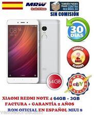 XIAOMI REDMI NOTE 4 64GB-3GB BLANCO.ROM OFICIAL MIUI V8 EN ESPAÑOL. FACTURA