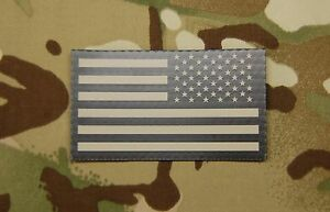 Infrared Reverse US Flag Uniform Patch IR US Army Navy Air Force USN SEAL Hook