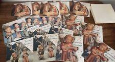 Vintage CHRISTMAS CAROLS PLASTICHROME CARDS Box 18 Unused w Words & Songs Angels