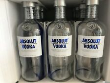 3x ABSOLUT VODKA 0,7 Liter Show Flasche LEER Empty Display Bottle Deko Shisha