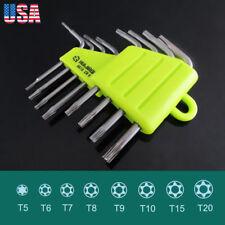 8 in 1 Folding Torx Key Wrench Star Driver Set T5 T6 T7 T8 T9 T10 T15 T20
