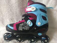 Women'S Kryptonic Inline Roller Skates Adjustable Size 5-8 Black, Blue & Pink