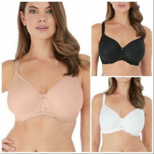 FANTASIE Ana Underwired T-Shirt Smooth Full Cup Bra Womens White Black Nude 6701