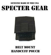 SPECTER GEAR 361 BLACK HANDCUFF CASE US MILITARY POUCH SWAT LEO DUTY BELT MOUNT