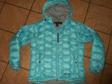 marmot 650 fill goose down puffer quilted women jacket sz L