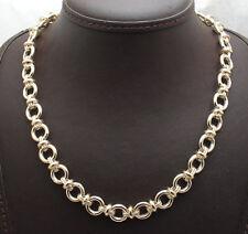 "18"" Technibond Multi Rolo Oval Chain Necklace 14K Yellow Gold Clad Silver"