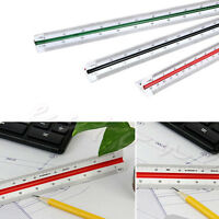 1:100 1:200 1:250 Triangular Metric Scale Ruler 300mm For Engineer Multicolor