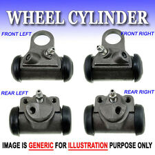 WC0293 Fit Ford Mercury Drum Brake Wheel Cylinders Front L+R & Rear L+R 4PCS Set