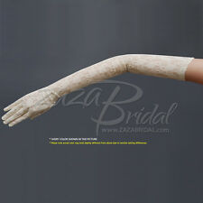 Fabulous Stretch LightWeight Women's Lace Gloves - Opera Length