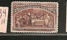 USA  #234  F-VF-NH   SC. Value  $160.00