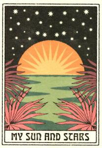 FINE ART GREETING CARDS My Sun & Star BIRTHDAY THANK YOU Hippie Boho CAI & JO