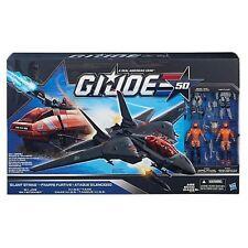 G.I. Joe 50th Anniversary Silent Strike Set with Black Skystriker Jet, Or... New
