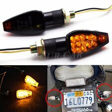 WATERPROOF MOTORCYCLE LED TURN SIGNALS INDICATORS LIGHT AMBER FOR SPORT BIKES US