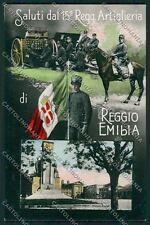 Reggio Emilia città Militari Saluti da Foto cartolina QK0257