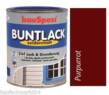 Bauspezi Buntlack Purpurrot seidenmatt 0,75 L 2in1 Lack Grundierung Holz Metall