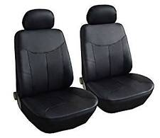 FORD FIESTA VAN (11+) LEATHER LOOK BLACK VAN SEAT COVERS SINGLE 1+1