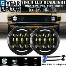 """2X 7"""" Round LED Headlights DRL Turn Signal Lamp for Ford Mustang F100 F150 65-79"""