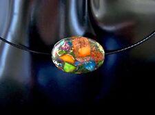 Handgefertigte Modeschmuck-Halsketten & -Anhänger aus Edelstahl mit Jaspis