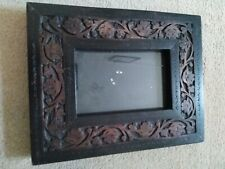 Carved Natural mango wood photo frame 10x15cm/4x6in