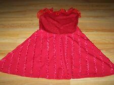 Size Small Disney High School Musical Gabriella Red Costume Dress Halloween EUC